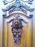 Luxuxantike geschnitzte hölzerne Blatt-Einstiegstür der Tür-vier (XS1-018)
