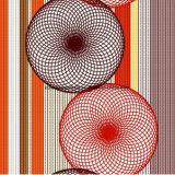 100%Polyester는 침구 세트를 위한 Pigment&Disperse에 의하여 인쇄된 직물을 종이 잘랐다