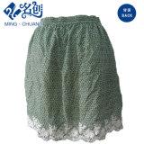 Jupe florale verte de mode de dames de broderie avec la ceinture élastique
