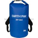 Sac de Duffle sec imperméable à l'eau de logo de bâche de protection faite sur commande de PVC avec le sac 10L sec pour la dérive de natation