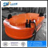 Elevador eléctrico de alta frecuencia con la forma oval para el desguace de acero que levanta de estrecho-espacio MW61-300150L / 1-75