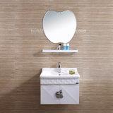 Acero inoxidable tocador de baño con espejo de maquillaje 082
