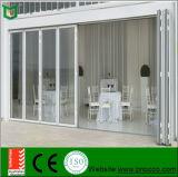 Окно створки Bi и дверь, алюминиевые двери складчатости с плотно Sealant