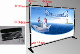 Telescopic di alluminio Backdrop Stand, Cheap e Elegant Adjustable Banner Stand.