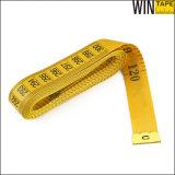 Gelbes Tuch-messendes Band des Firmenzeichen-Entwurfs-120inch 3m
