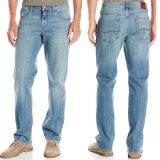 As calças de brim azuis do corte do carregador do Mens do OEM em linha esticam calças de brim da sarja de Nimes