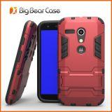 Caja del teléfono celular de Kickstand para Motorola Moto G