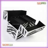 De gestreepte Beautycase van de Make-up van het Patroon Professionele Draagbare (SACMC113)