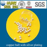 esferas C1100 de cobre de 4mm com chapeamento de prata