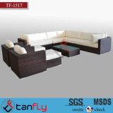 Sofa moderne d'osier d'hôtel de loisirs de patio de jardin de meubles extérieurs de rotin