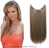 Neuer Form-Frauen-lang gerade hellgelber synthetischer Haar-Einschlagfaden
