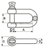 ヨーロッパのタイプDの手錠(DR-Z0001)