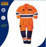 A laranja elevada do amarelo do Vis protege a combinação do desgaste da segurança do Workwear