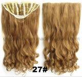 Синтетический курчавый зажим парика Тверд-Цвета 1/2 в выдвижении 7 PCS волос