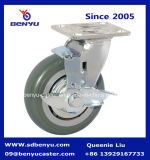 Side resistente Brake Castors e Alto-Elastic TPR Wheels