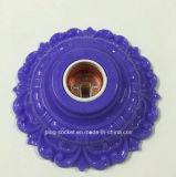 E27 farbige Plastikaluminium-überzogene kupferne Lampenhalterung (L-112)