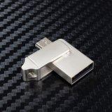 Mecanismo impulsor del flash del USB del metal OTG para los regalos promocionales
