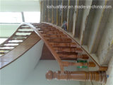 Made in China Foshan forma de espiral de madera maciza Escalera Barandilla