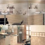 Mattonelle di ceramica della parete della banda di colore giallo del materiale da costruzione della stanza di legno della cucina