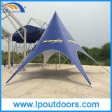 Pleine impression extérieure de logo annonçant la tente d'étoile d'événement d'abri
