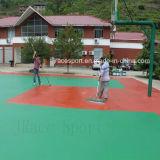 La corte di pallavolo UV di resistenza mette in mostra la pavimentazione per esterno usato