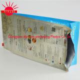 Bolso plástico de encargo inferior cuadrado del acondicionamiento de los alimentos con la fecha china