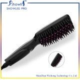 Peigne chaud de cheveu droit d'anion de redresseur de cheveu de la vente 2016 redressant le balai électrique d'écran LCD de fers