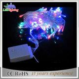 IP44 PVC白いワイヤークリスマスの照明の電池によって満たされる休日ライトLEDストリングライト
