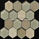 Mosaico de cerámica y de cristal del crujido hexagonal del hielo 2016 (OYT-S11)