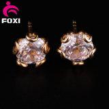 宝石類の金のAlibabaの金の明白な宝石類の女性のスタッドのイヤリング