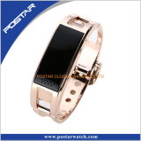 心拍数の健康の腕時計が付いているタッチ画面の歩数計のスマートな腕時計
