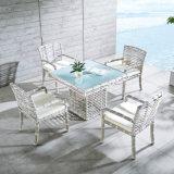 Jogo ao ar livre da tabela do jardim da mobília do Rattan Handmade da fábrica de Foshan