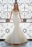 Sirena atractiva 2017 que rebordea la alineada de boda de la novia, modificada para requisitos particulares