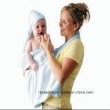 면 아기 두건이 있는 목욕 담요 목욕 수건의 동물성 디자인