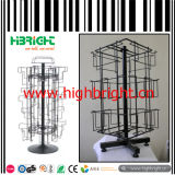 Eisen Wire Mesh und MDF Structure Shoe Display Rack mit Hooks