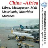 Serviço de transporte / Embarque Aéreo / Frete para a Mauritânia, Maurícias, Marrocos, Moçambique, Namíbia, Níger, Nigéria, Reunião, Ruanda, São Tomé e Príncipe (África)