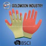 резьбы 10g 5 желтеют перчатку работы безопасности латекса вкладыша померанцовую
