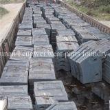 Doublure élevée de grille de défibreur d'acier de manganèse