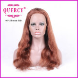 波状赤ん坊の毛を搭載する女性のためのブラジルのレースの前部かつらは暗い色に染めることができる