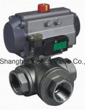 Pneumatic Threaded Tee Ball Valve (Q614(5)F)