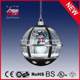 Hangende Lamp van de Bol van de Sneeuw van de Giften van Kerstmis de Zwarte Ronde met leiden