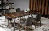 철 다리 (DT024)를 가진 새로운 현대 디자인 강화 유리 최고 식탁