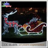 نمو عيد ميلاد المسيح [سلي] وأيّل [3د] [لد] الحافز ضوء لأنّ عيد ميلاد المسيح زخرفة عطلة ضوء