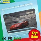 Cartão anunciando do estacionamento do pára-brisa da freqüência ultraelevada do sistema ALN9662 RFID