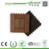 Tuile composée en plastique en bois de verrouillage de Decking