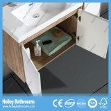 Vaidade nova do banheiro do estilo do projeto gama alta moderno da unidade do gabinete do banho do carvalho (BF134M)