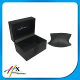 Glatter Farbanstrich-grundlegender schwarzer Uhr-Kasten-einzelner Uhr-Speicher-Geschenk-Kasten mit Kissen