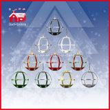 Natal Gifts Black Round Snow Globe Hanging Lamp com diodo emissor de luz