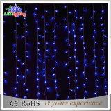 Decoração de Natal impermeável LED White PVC Wire Blue String Light