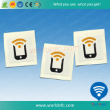 Изготовленный на заказ слипчивая бирка стикера RFID перезаписывающийся малая NFC